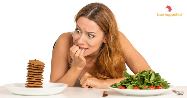 Food cravings salad cookies